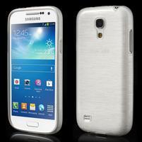 Brushed gélový obal pre mobil Samsung Galaxy S4 mini - biely