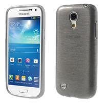 Brushed gélový obal pre mobil Samsung Galaxy S4 mini - šedý