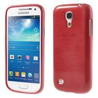 Brushed gélový obal pre mobil Samsung Galaxy S4 mini - červený