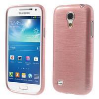 Brushed gélový obal pre mobil Samsung Galaxy S4 mini - ružový