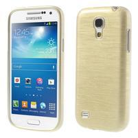 Brushed gélový obal pre mobil Samsung Galaxy S4 mini - zlatý