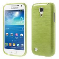 Brushed gélový obal pre mobil Samsung Galaxy S4 mini - zelený