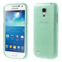 Brushed gélový obal pre mobil Samsung Galaxy S4 mini - azúrový