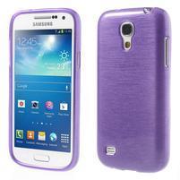 Brushed gélový obal pre mobil Samsung Galaxy S4 mini - fialový