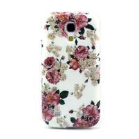 Stylish gélový obal pre mobil Samsung Galaxy S4 mini - kvety