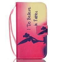Diary peňaženkové puzdro pre mobil Samsung Galaxy S4 mini - víla