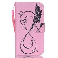 Diary peňaženkové puzdro pre mobil Samsung Galaxy S4 mini - love