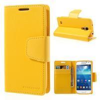 Sonata PU kožené puzdro pre mobil Samsung Galaxy S4 mini - žlté