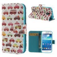 Style peňaženkové puzdro pre Samsung Galaxy S4 mini - autíčka