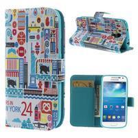 Style peňaženkové puzdro pre Samsung Galaxy S4 mini - New York