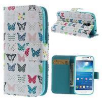 Style peňaženkové puzdro pre Samsung Galaxy S4 mini - motýle