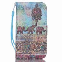 Diary peněženkové pouzdro na mobil Samsung Galaxy S4 mini - sloni