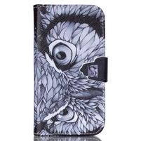 Emotive peňaženkové puzdro pre Samsung Galaxy S4 mini - sova
