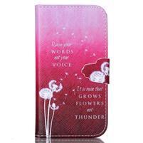 Emotive peňaženkové puzdro pre Samsung Galaxy S4 mini - púpavy