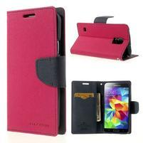 Diary peňaženkové puzdro pre Samsung Galaxy S5 - rose