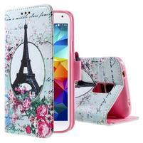 Ochranné puzdro pre mobil Samsung Galaxy S5 - Eiffelova veža
