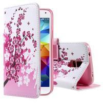 Ochranné pouzdro na mobil Samsung Galaxy S5 - kvetoucí větvička