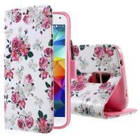 Ochranné pouzdro na mobil Samsung Galaxy S5 - květinová koláž