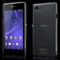 Ultratenký obal pre mobil Sony Xperia E3 - transparentné