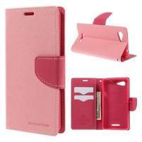 Richmercury puzdro pre mobil Sony Xperia E3 - ružové