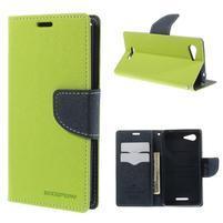 Richmercury puzdro pre mobil Sony Xperia E3 - zelené