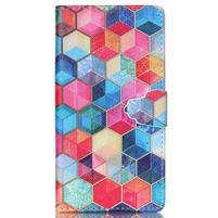 Emotive pouzdro na mobil Sony Xperia M4 Aqua - hexagony