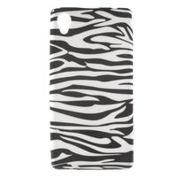 Emotive gélový obal pre Sony Xperia M4 Aqua - zebra