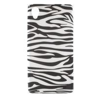 Emotive gelový obal na Sony Xperia M4 Aqua - zebra