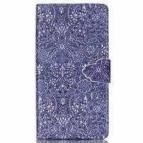 Emotive pouzdro na mobil Sony Xperia M4 Aqua - retro květy