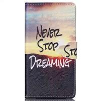 Emotive puzdro pre mobil Sony Xperia M4 Aqua - neprestávaj snívať