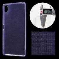 Ultratenký 0.5 mm gelový obal na Sony Xperia X - fialový
