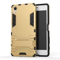 Odolný kryt pre mobil Sony Xperia X - zlatý