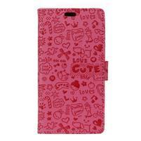 Cartoo Peňaženkové puzdro pre Sony Xperia X - rose