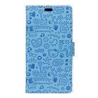 Cartoo Peňaženkové puzdro pre Sony Xperia X - modré