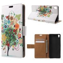 Emotive puzdro pre mobil Sony Xperia XA - kvetinový strom