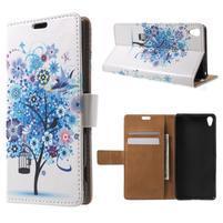 Emotive puzdro pre mobil Sony Xperia XA - modrý strom