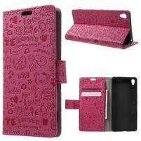 Cartoo Peňaženkové puzdro pre mobil Sony Xperia XA - rose