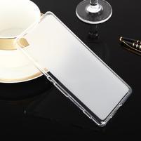 Obojstranné matný gélový obal pre Sony Xperia XA - biely
