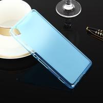 Obojstranné matný gélový obal pre Sony Xperia XA - modrý