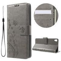 Butterfly puzdro pre mobil Sony Xperia XA - sivé