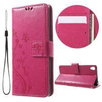 Butterfly puzdro pre mobil Sony Xperia XA - rose