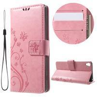 Butterfly puzdro pre mobil Sony Xperia XA - ružové