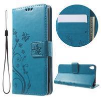 Butterfly puzdro pre mobil Sony Xperia XA - modré