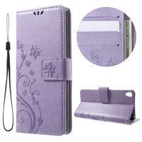 Butterfly puzdro pre mobil Sony Xperia XA - fialové