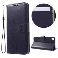 Butterfly puzdro pre mobil Sony Xperia XA - tmavofialové