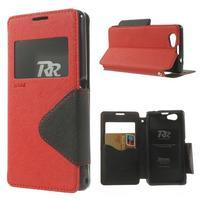 Okýnkové puzdro pre mobil Sony Xperia Z1 Compact - červené
