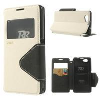 Okýnkové puzdro pre mobil Sony Xperia Z1 Compact - biele