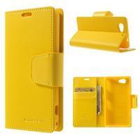 Sonata PU kožené puzdro pre mobil Sony Xperia Z1 Compact - žlté