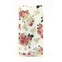 Softy gélový obal pre Sony Xperia Z1 Compact - kvetinky