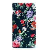 Puzdro na mobil Sony Xperia Z1 Compact - květinová koláž